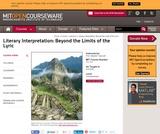 Literary Interpretation: Beyond the Limits of the Lyric, Fall 2006