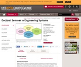 Doctoral Seminar in Engineering Systems, Fall 2011
