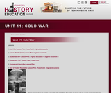 Reading Like a Historian, Unit 11: Cold War