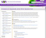 Classical Appeals and War Speeches