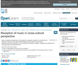 Reception of Music in Cross-Cultural Perspective