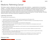 Medicine: Rethinking Cancer