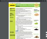 Health Literacy: Grade 2-3 Lesson, Garbanzo Beans