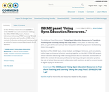 """ISKME panel """"Using Open Education Resources.."""""""