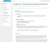 Unidade 25 – TIC para Desenvolvimento Profissional