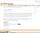 Learners and Learning: Section 6, Talking about theory