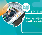 Finding Subject Specific Materials