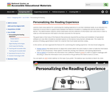 Personlizing the Reading Experience
