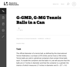 G-MG Tennis Balls in a Can