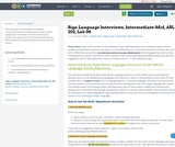 Sign Language Interviews, Intermediate-Mid, ASL 202, Lab 08