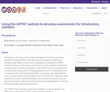 Using the ARTIST Website to Develop Assessments for Introductory Statistics