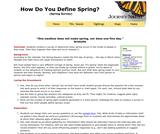 How Do You Define Spring?
