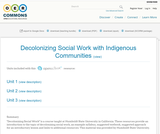 Decolonizing Social Work with Indigenous Communities