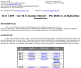 World Economic History – Pre-History to Industrial Revolution