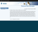 Theories and concepts