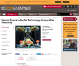 Special Topics in Media Technology: Cooperative Machines, Fall 2003