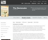 The Namesake by Jhumpa Lahiri  - Reader's Guide
