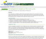 Investigations Based on the Rock Cycle