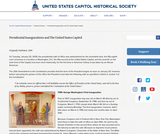 Presidential Inaugurations and The United States Capitol