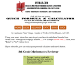 8th Grade Math Assessment Reviewer