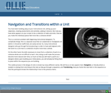 Navigation and Transitions in Online Units
