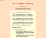 Proposed K-12 Science Standards