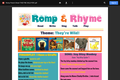Romp & Rhyme Storytime Parent Activity Sheet: They're Wild!