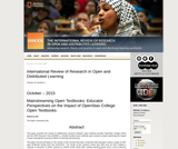 Mainstreaming Open Textbooks: Educator Perspectives on the Impact of OpenStax College Open Textbooks