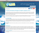 Vocabulary Development Strategies for English Language Learners