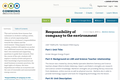 Responsibility of company to the environment