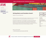 Writing Rubrics and Checklists: Grade 5