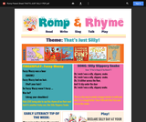 Romp & Rhyme Storytime Parent Activity Sheet: That's Just Silly!
