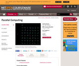 Parallel Computing, Fall 2011