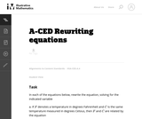A-CED Rewriting equations