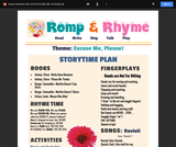 Romp & Rhyme Storytime Lesson Plan: Excuse Me, Please