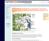 Introduction to Geographic Information Systems (GIS) for Urban and Environmental Analysis