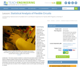 Statistical Analysis of Flexible Circuits