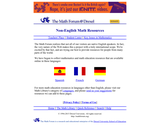 The MathForum @ Drexel Non-English Math Resources