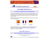 The MathForum @ Drexel Non-English Math Resources