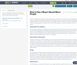 How to Use a Blog to Reach More People