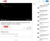 Algebra: Algebra: Solving Radical Equations (Part  3)