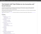 TAToM: Text Analysis with Topic Models for the Humanities and Social Sciences