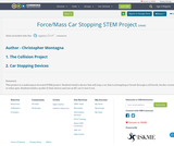 Force/Mass Car Stopping STEM Project