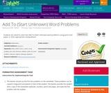 Add To (Start Unknown) Word Problems
