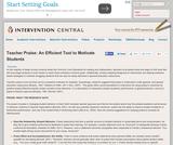 Teacher Praise: An Efficient Tool to Motivate Students