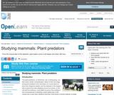 Studying Mammals: Plant Predators