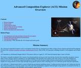 Advanced Composition Explorer (ACE) Mission Overview