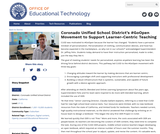 Coronado Unified School District's #GoOpen Movement to Support Learner-Centric Teaching