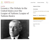 Lesson 1: The Debate in the United States over the League of Nations: League of Nations Basics