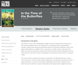 In the Time of the Butterflies by Julia Alvarez - Readers Guide